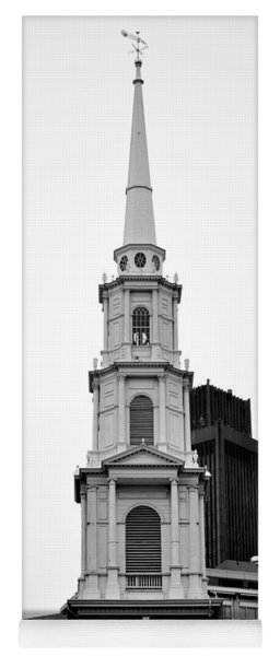 Park Street Church Boston Black And White Yoga Mat