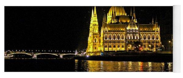 Parliament At Night Yoga Mat