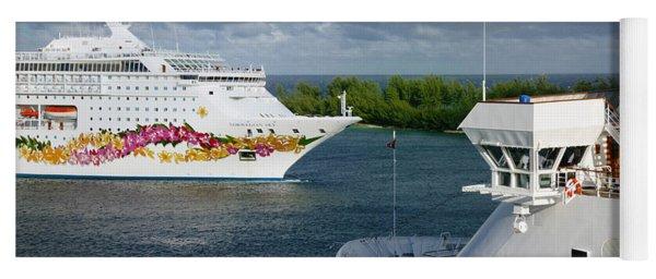 Passing Cruise Ships Yoga Mat