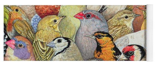 Patchwork Birds Yoga Mat