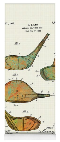 Patented Golf Club Heads 1926 Yoga Mat