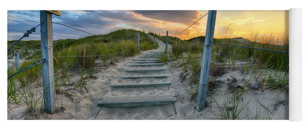 Yoga Mat featuring the photograph Path Over The Dunes by Sebastian Musial