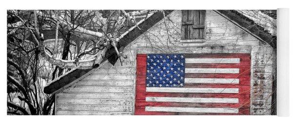 Patriotic American Shed Yoga Mat