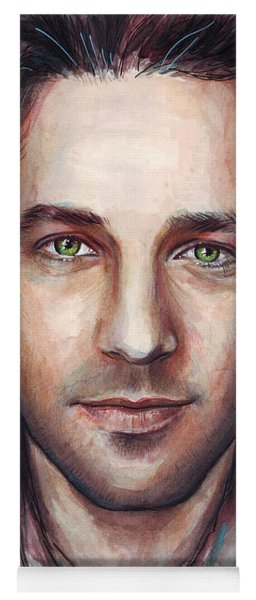 Paul Rudd Portrait Yoga Mat