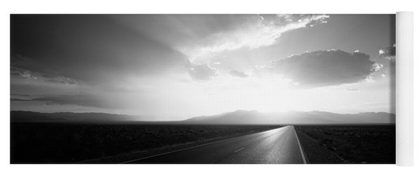 Paved Road At Sunset, Death Valley Yoga Mat