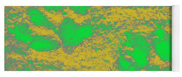 Paw Prints In Yellow And Lime Yoga Mat