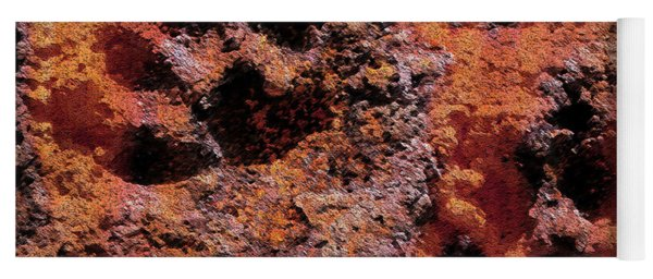 Paw Prints Rust Over Time Yoga Mat