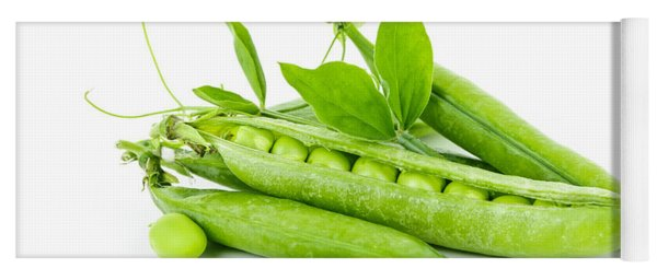 Pea Pods And Green Peas Yoga Mat