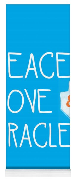 Peace Love And Miracles With Dreidel  Yoga Mat