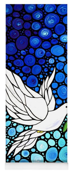 Peaceful Journey - White Dove Peace Art Yoga Mat