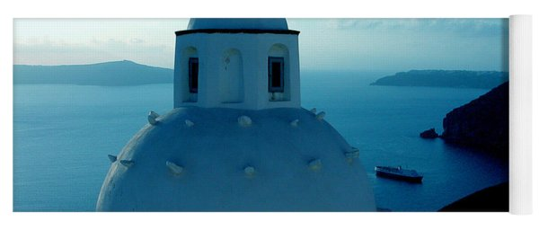 Yoga Mat featuring the photograph Peacefull Santorini Greek Island  by Colette V Hera  Guggenheim