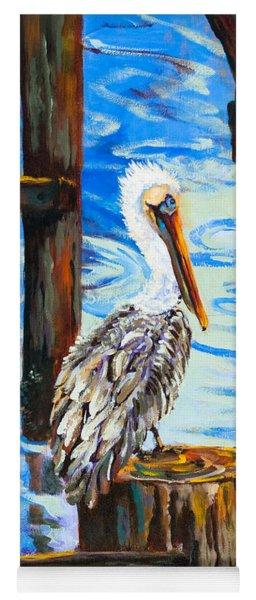 Pelican And Pilings Yoga Mat