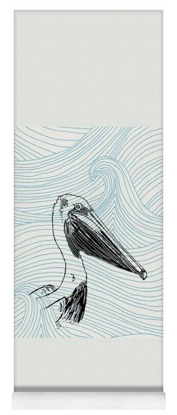 Pelican On Waves Yoga Mat