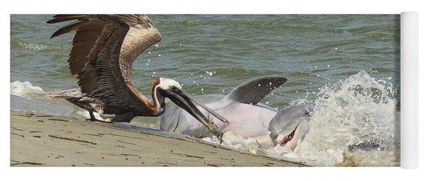 Pelican Steals The Fish Yoga Mat