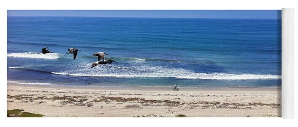 Pelicans And Rider Yoga Mat