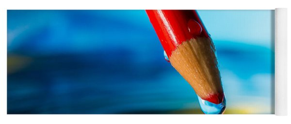 Pencil Water Drop Yoga Mat