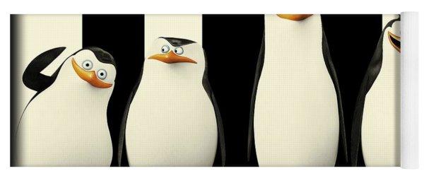Penguins Of Madagascar Yoga Mat