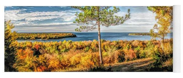 Peninsula State Park Scenic Overlook Panorama Yoga Mat