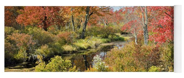 Pennsylvania Stream In Autumn Pocono Mountains Yoga Mat