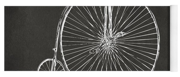 Penny-farthing 1867 High Wheeler Bicycle Patent - Gray Yoga Mat