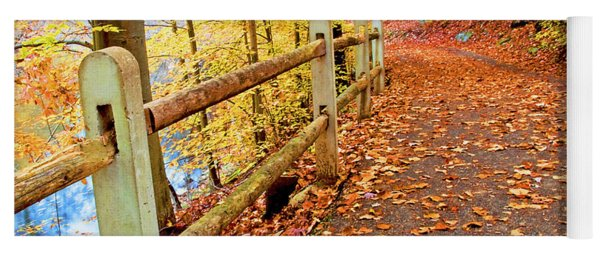 Pennypack Trail Philadelphia Fall Yoga Mat