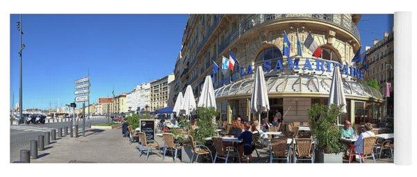 People At Sidewalk Cafe, Marseille Yoga Mat