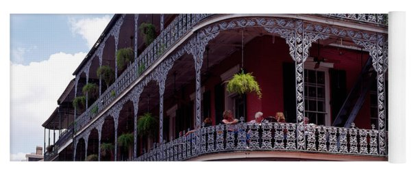 People Sitting In A Balcony, French Yoga Mat