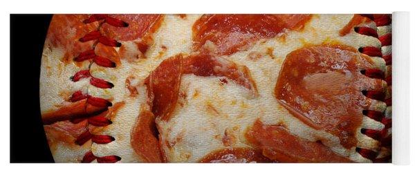 Pepperoni Pizza Baseball Square Yoga Mat