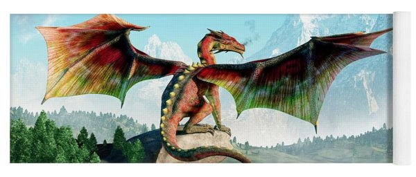 Perched Dragon Yoga Mat