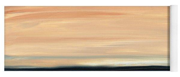 Perfect Calm - Abstract Earth Tone Landscape Blue Yoga Mat