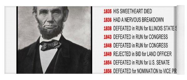 Perseverance Of Abraham Lincoln Yoga Mat