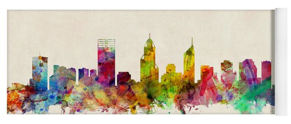 Perth Australia Skyline Yoga Mat