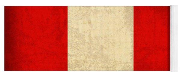 Peru Flag Vintage Distressed Finish Yoga Mat