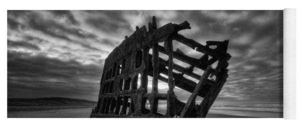 Peter Iredale Shipwreck Black And White Yoga Mat