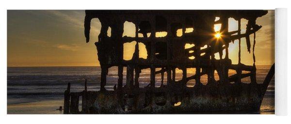 Peter Iredale Shipwreck Sunset Yoga Mat
