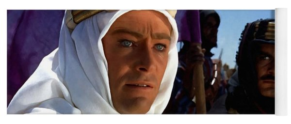 Peter Otoole And Omar Sharif In Lawrence Of Arabia Yoga Mat