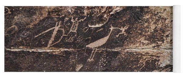 Petroglyph Bird Yoga Mat