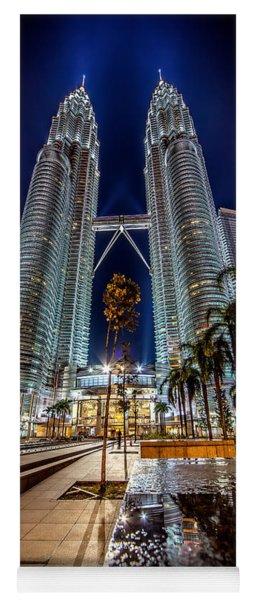 Petronas Twin Towers Yoga Mat