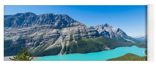 Peyto Lake At Banff National Park Yoga Mat