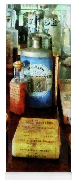 Pharmacy - Cough Remedies And Tooth Powder Yoga Mat