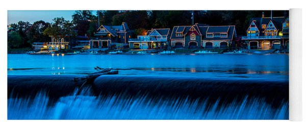 Philadelphia Boathouse Row At Sunset Yoga Mat