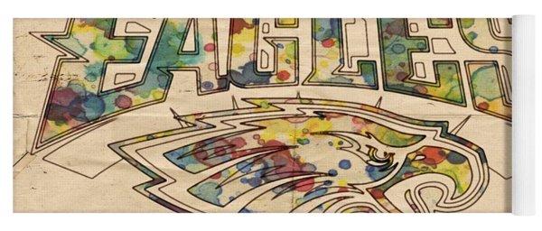 Philadelphia Eagles Poster Art Yoga Mat