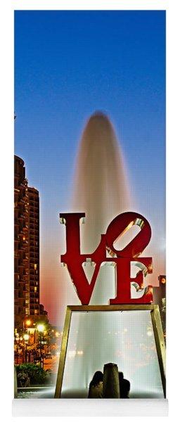 Philadelphia Love Park Yoga Mat