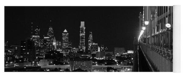 Philadelphia Night B/w Yoga Mat
