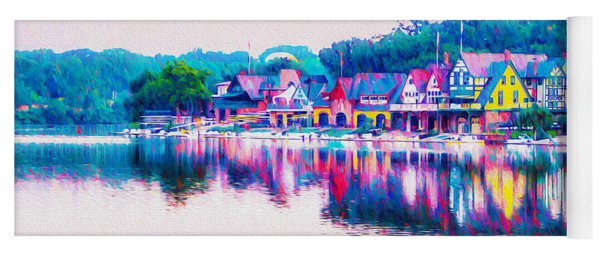 Philadelphia's Boathouse Row On The Schuylkill River Yoga Mat