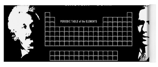 Physicists Periodic Table Yoga Mat