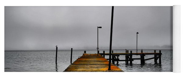 Pier Into The Fog Yoga Mat