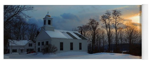 Piermont Church In Winter Light Yoga Mat