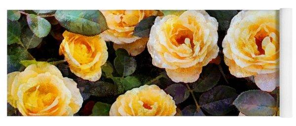 Pierre's Peach Roses Yoga Mat