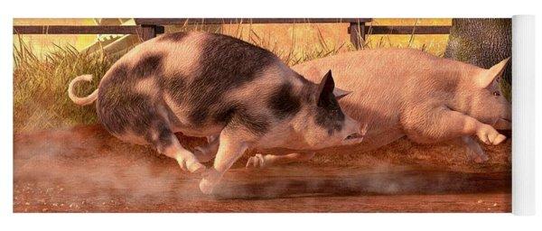 Pig Race Yoga Mat